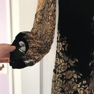 Gorgeous Anna Sui burnout velvet dress